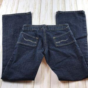 Von Dutch Dark Wash Blue Jeans with Rhinestones